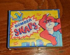 Vintage BOMBER SNAPS Box Fireworks KING KONG NOISEMAKERS NOISE MAKERS OLD EMPTY