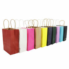 50 Bright PAPER PARTY BAGS Gift Bag With Handles Recyclable Birthday Wedding