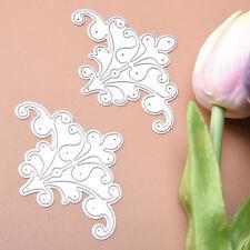 2pcs Flowers Cutting Dies Stencil Scrapbooking Album Card Embossing DIY Craft