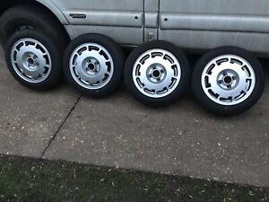 Pirelli P Slots alloy wheels set Mk1 Golf Caddy Polo Breadvan VW Volkswagen Nova