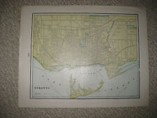 ANTIQUE 1898 TORONTO MONTREAL CANADA MAP STEAM HORSE RAILROAD DETAILED FINE NR
