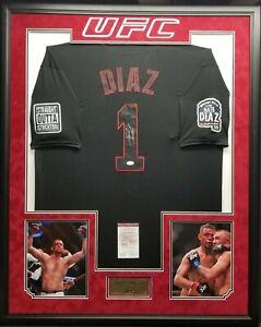 NATE DIAZ Signed Autographed UFC Custom JERSEY Frame. WITNESS JSA