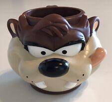 Vintage Warner Brothers Looney Tunes Taz Tazmanian Devil Coffee Mug 3-D cup