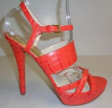 Michael Kors Size 7 M NADJA PLATFORM Mandarin Leather Sandals New Womens Shoes