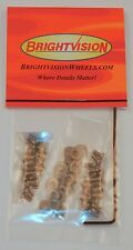 40 SILVER 2-56 Hexhead Button-Head Screw-In Rivets, Washers & Wrench For Customs