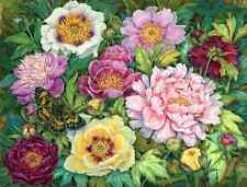 Chart Needlework Crafts DIY Counted Cross Stitch Pattern PDF Peony and Butterfly