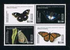 Aitutaki - 2017 Butterflies Stamp Block of 4 Stamps