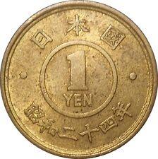 Japan Showa Era 1 Yen 24/1949 Y#70 Emperor Hirohito (3715)