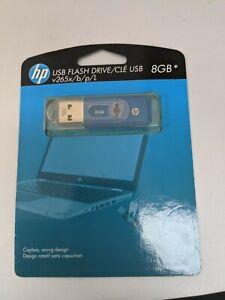 HP Branded 8GB Flash Drive Memory Stick Blue v265x #SH