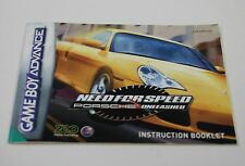 Need for Speed: Porsche Unleashed - PAL - Nintendo Gameboy Advance Manual