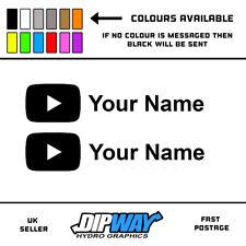2x youtube - Funny Novelty Car / Bike / Van / Window / Vinyl Sticker Decal