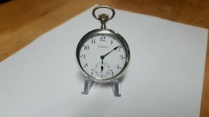 """Ball Waltham 16 Size """"Commercial Standard"""" 17 Jewel Adjusted Pocket Watch"""