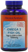 Higher Nature Fish Oil (Omega 3) 180 caps