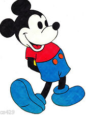 """11"""" DISNEY MICKEY MOUSE VINTAGE FOOT UP CHARACTER WALL SAFE FABRIC DECAL CUT OUT"""