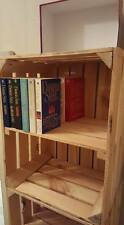 3 x APPLE CRATES with SHELF - IDEAL SHELVING / BOOKCASE / DVD / STORAGE SOLUTION