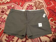 Old Navy  Womens Size 12 Gray Chino Weekend Shorts New With Tags Cotton Blend