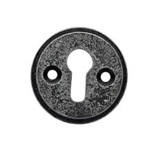 Round Pewter Standard Escutcheon Key hole