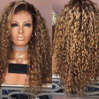 Damen lockige synthetische Perücke Afro Lange Gewellt Haar Perücken Wigs