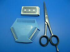 """Set Kuly + Friseurschere Haarschere 5,5"""" Effiliermesser Haarschneider +Klingen B"""