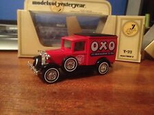 Matchbox Models of Yesteryear Y-22 1930 Ford A Van 'OXO' - Yellow Box