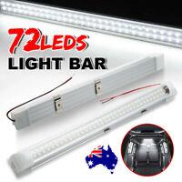 12V 72 LED Strip Light Bars Rigid Car Interior Lamps Caravan Van Camping Boat