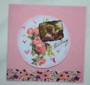 Special Occasion Anniversary Valentine' Day Birthday Blank Cards Pink Flowers