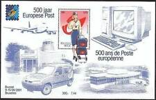 Belgium**500 Years EUROPEAN POST-SHEET-2001-MAIL SORTING & DISTRIBUTION-MNH