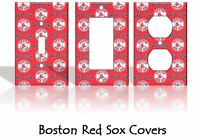 Boston Red Sox #2 Light Switch Covers Baseball MLB Home Decor Outlet