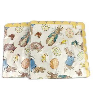Lot Of 2 Beatrix Potter Peter Rabbit Happy Easter Paper Napkins 20 Piece