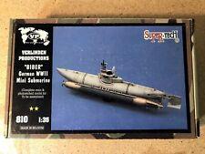 Verlinden 1/35 Biber (Beaver) German Midget Submarine WWII Resin Model kit # 810