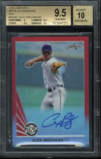 2015 Leaf 25th Metal Auto Alex Bregman Red 2/5 BGS Gem Mint 9.5 Autograph 10