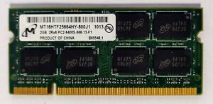 Barrette Mémoire Vive 2 go DDR2 So-dimm PC2 6400S 800 Mhz Micron (PC PORTABLE)