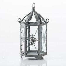 Antique Grey Vintage Style Lantern Candle Holder Tea Light Holder Home / Garden