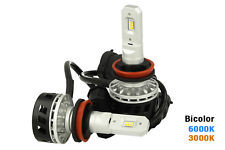 Kit Full Led Canbus H8 H11 30W Dual Color 6000K 3000K Dual Color Bianco Giallo