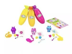 Bananas Collectible Toy 3-Pack Bunch Orange, Pink, Yellow - Series 1 by Cepia