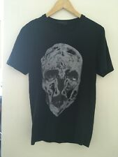 Mens Alexander McQueen Black Skull T-shirt Size Small