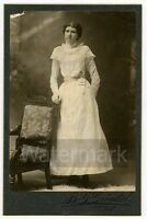 Cabinet Card Photo   Lady by Grondal  Lindsborg Kansas KS   LBG1