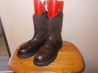 Men's C.E. SCHMID Brown Leather Waterproof  Steel Toe Wellington Work Boot  13M