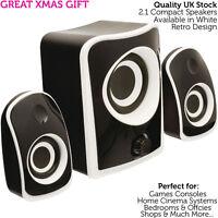 QUALITY Compact 2.1 Surround Sound Gaming Speaker System -Mini PC/Laptop Sub Kit