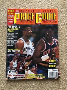 Sports Collectors Digest PRICE GUIDE Nov. 1993 DAVID ROBINSON w/ CARDS