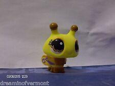 Littlest Pet Shop YellowBrown Bumblebee with YellowPurple Wings Brown Eyes #1135