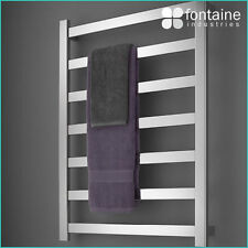 London Heated Towel Ladder Hardwired Watt Rail Rack Modern NEW Square Luxurious