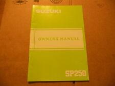 Suzuki Owners Manual 1985 SP250