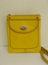 NWT Fossil Marlow Cross Body Purse Leather Citrus Yellow Mini Handbag Small