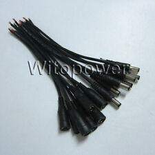 10 pcs 5.5*2.1mm Dc Male Female Connector Cable For 5050 Led Strip Cctv Camera