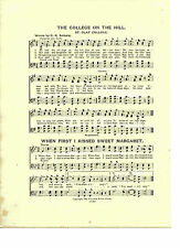 "Vintage St. OLAF COLLEGE song Sheet- ""COLLEGE ON THE HILL"" 1903 - MINNESOTA"