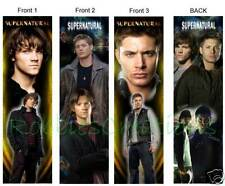 3 Lot- SUPERNATURAL Bookmarks Dean Sam TV Show Jared Jensen Beautiful Doubleside