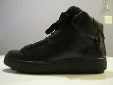 COACH MENS SHEARLING BLACK HIGH TOP SNEAKERS SIZE 9D