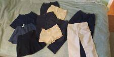 Little Girls School Uniform 10 piece Bottoms lot Navy/khaki Euc Size 6/6x