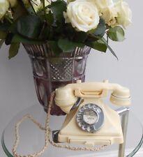 Vintage Cream/White Bakelite Pyramid Telephone (original)